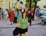 """""""Nevsky Prospeckt #2"""", 2007, oil on canvas, 24 x 30 in"""
