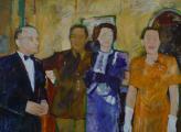 """""""Quattro"""", 1988, 36 x 50 in"""