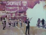 """Showtime on Telegraph"", 1970, 38 x 50 in"