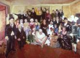 """Costume Party at the Ambassador Hotel #1"", 1978, oil on canvas, 54 x 72 in"