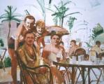 """Miami Beach"", 1986, oil on canvas, 50 x 60 in"