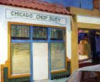 """Chicago Chop Suey"", 1983, oil on canvas, 44 x 52 in.  In the collection of The Art Institute of Chicago."