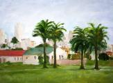 """""""Fort Mason #2"""", 1993, oil on canvas, 18 x 24 in"""