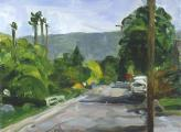 """San Jose Street"", 1995, oil on canvas, 12 x 16 in"