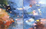 &quot;Shore Pools&quot;, 1981, oil on canvas, 30 x 56 in