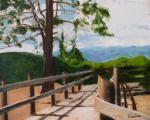 """""""Beach Walk, Sand Harbor"""", 2007, oil on canvas, 16 x 20 in"""