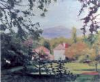 """Napa View From Road"", 2006, oil on canvas, 20 x 24 in"