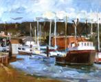 &quot;Oakland Estuary #4&quot;, 1983, oil on canvas, 16 x 20 in