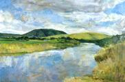 &quot;Point Reyes View&quot;, 2001, oil on canvas, 24 x 36 in