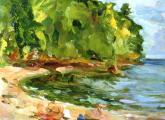 &quot;Shell Beach #1&quot;, 1993, oil on canvas, 12 x 16 in